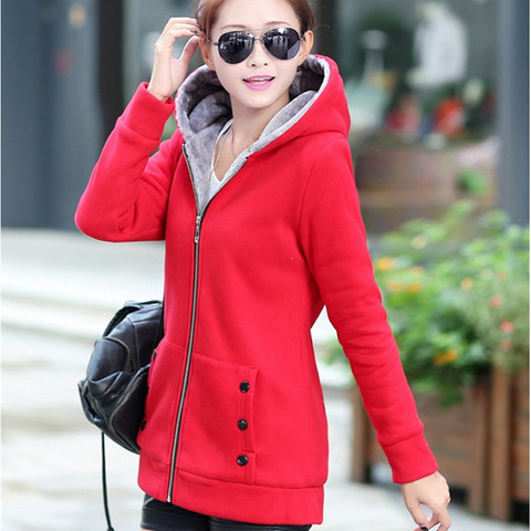 Spring Autumn Jackets Women Casual Hoodies Coat Cotton Sportswear Coat Hooded Warm Jackets Plus Size M-3XL Lahore