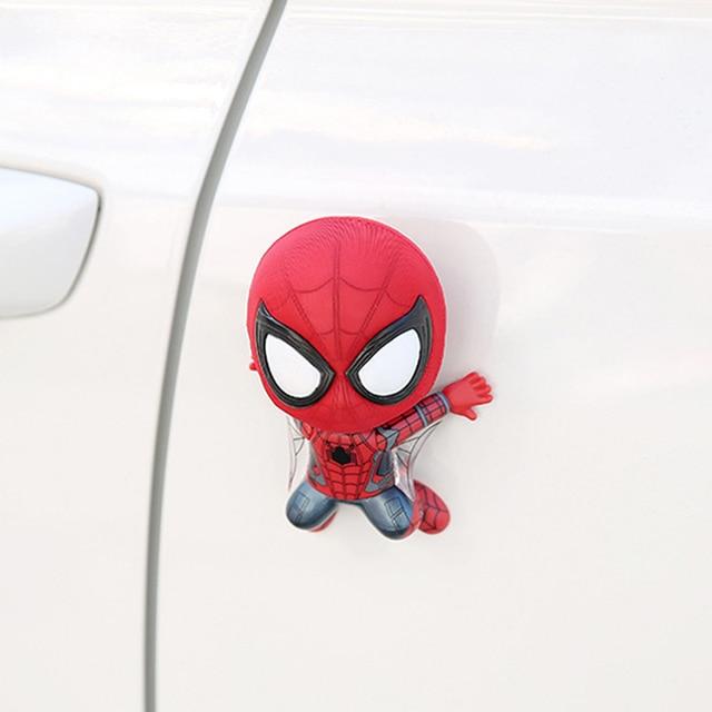 Car Accessories Cartoon Spider-Man Model Shake Head Toy Ornament Magnet Auto Interior Dashboard Decoration Sticker Doll Gifts