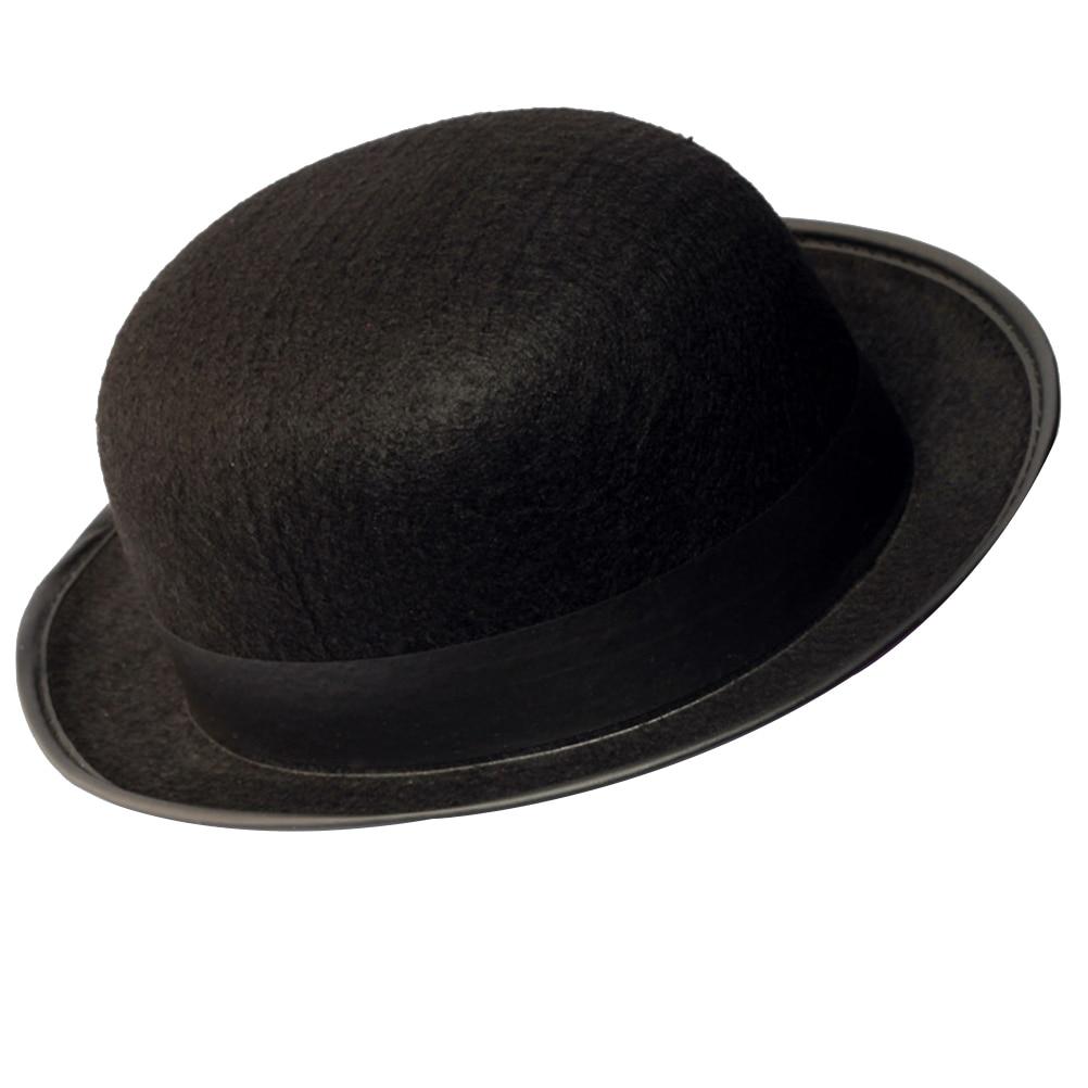 567ce558b49e4 1 x Black Bowler Hat Magician s Hat Dress Up Costume Accessory for Men  Adult Fancy Dress Party