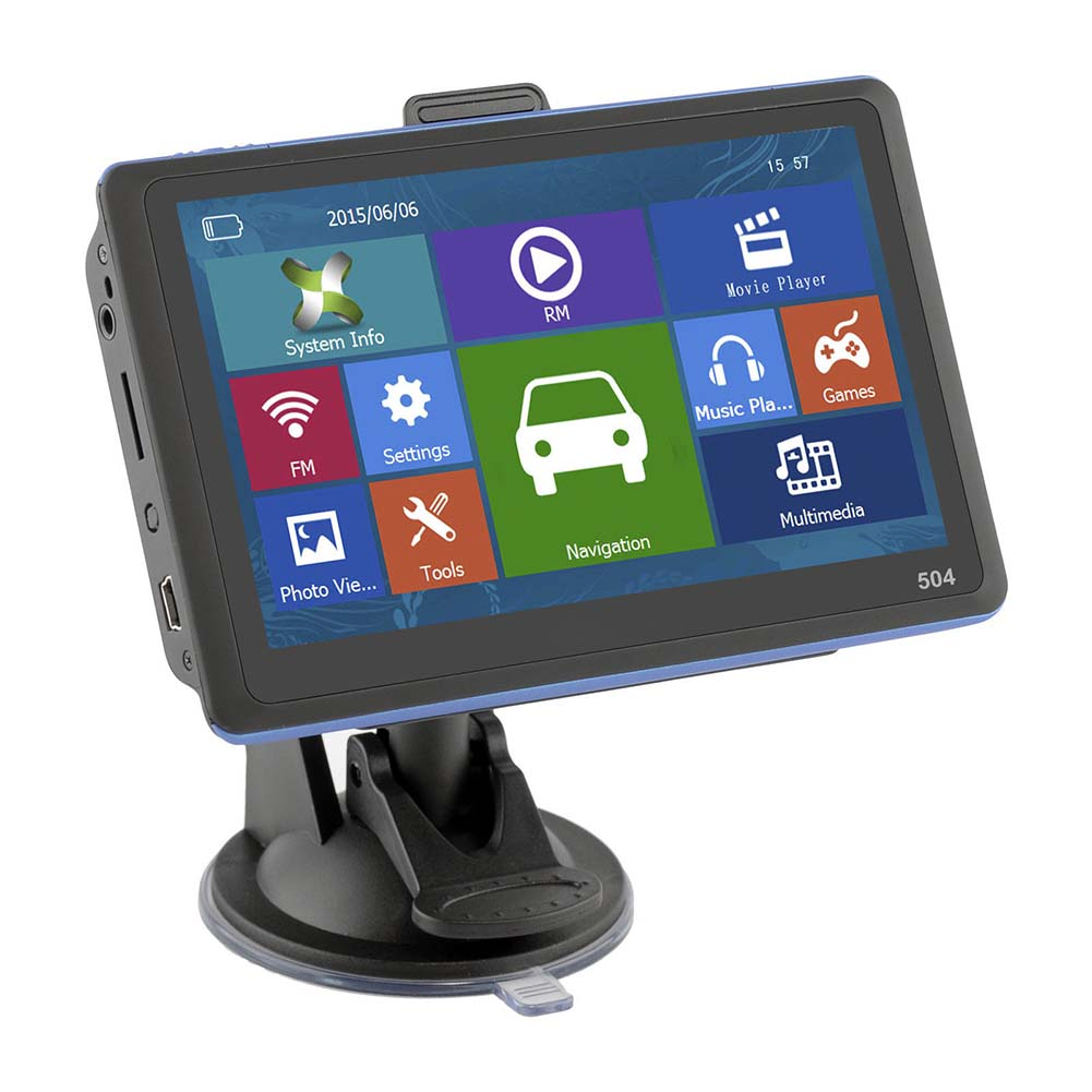 5 Inch GPS Navigation HD Display Navigator With Sunshade Free Map for Car Truck Bus Taxi M8617