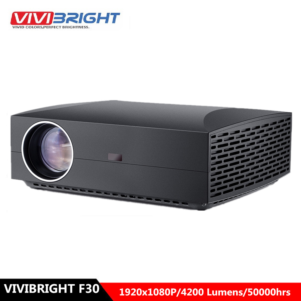 VIVIBRIGHT F30 LCD Projector FHD 1920 X 1080P 4200 Lumens 50000hrs Lamp Life Home Theater Proyector For Home Office(China)