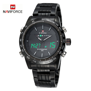 Image 3 - NAVIFORCE Mens Watches Top Brand Luxury Casual Quartz Watch Man Waterproof Military Male Hour Stainless Steel Relogio Masculino