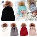 Recién nacido bebé del invierno hat cap beanie, niños Niños Invierno de Punto de Lana Sombreros Gorros para Niñas recien nacido