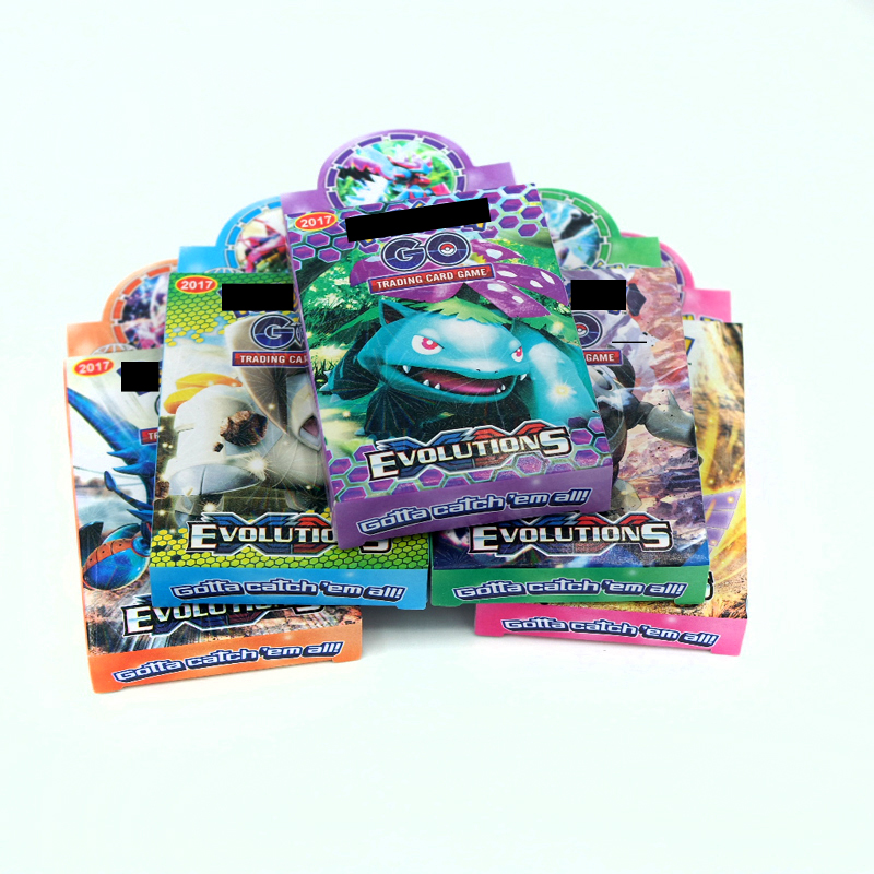25pcs/box 500PCS Packs Per Box Pokemon GX MEGA Card Collectible Trading Card Set Child Toy Gift