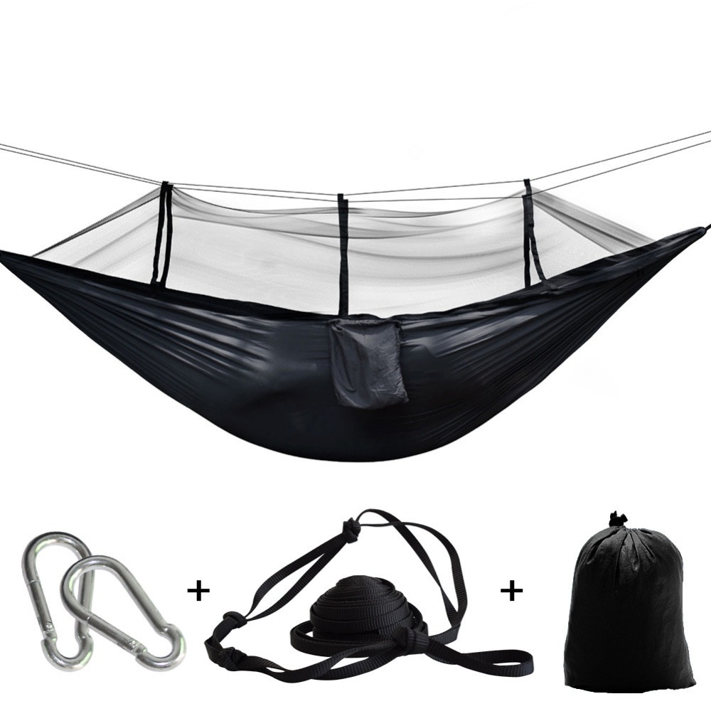 Camping Parachute Fabric Net Hammock Anti-Mosquito Hanging Hamak For Outdoor Patio Sleeping Hamac Swing Tree Bed Beach Chair