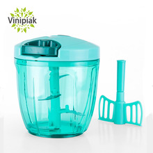 Kitchen Multifunctional Portable Onion Chopper Manual Stainless Steel Blades Vegetable Food Chopper Size 3 cup 5 cup