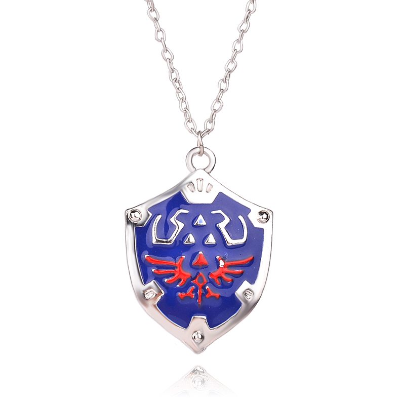 The Legend of Zelda Breath of the Wild Anime Game Vintage Necklace Shield Logo Alloy Pendant Charm Jewelry Fans Christmas Gift ...