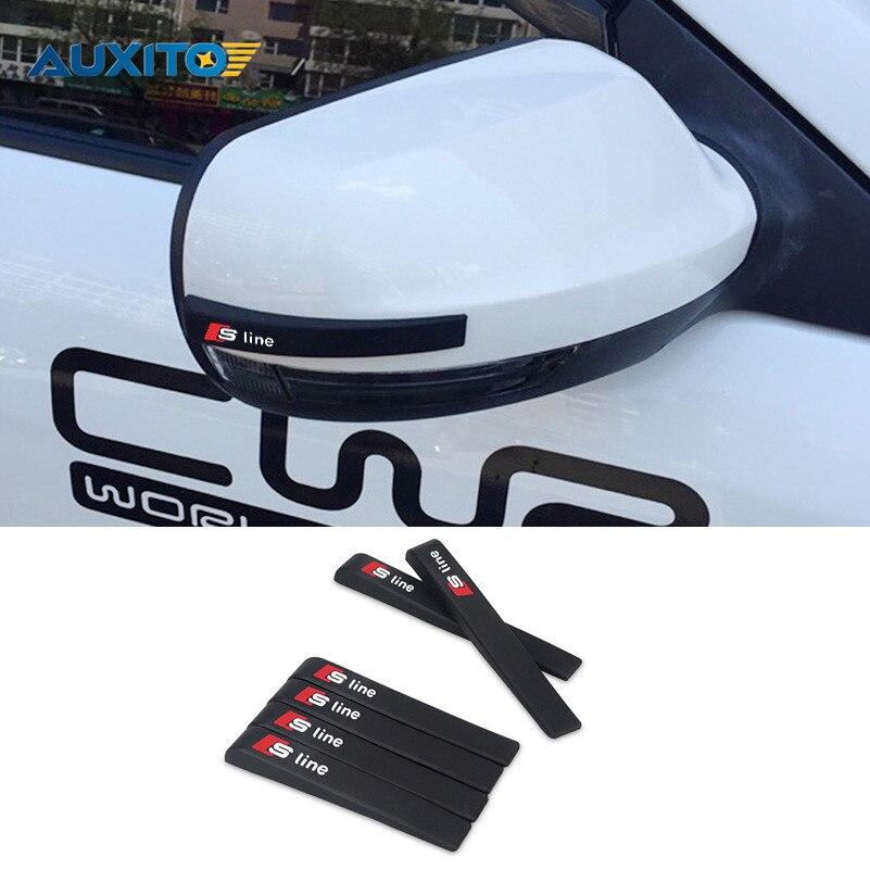 Car Anti Collision Sticker Door Mirror Film Protection For Audi Sline A3 A4 A5 A6 A7 A8 B7 B8 C5 C6 Q5 Q7 бампер audi a6 c5
