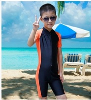 Children swimwear diving skins for boys girls wetsuit swimsuit short sleeve kids summer rash guard surf suits tights clothes