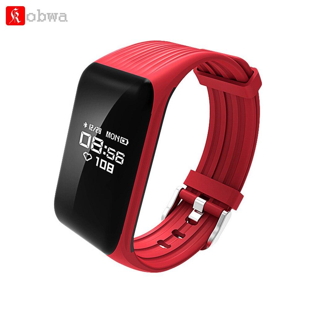 Kobwa K1 Smart Bracelet Band Bracelet Fitness Tracker en temps Réel Moniteur de Fréquence Cardiaque IP67 Étanche Bluetooth Sport Montre