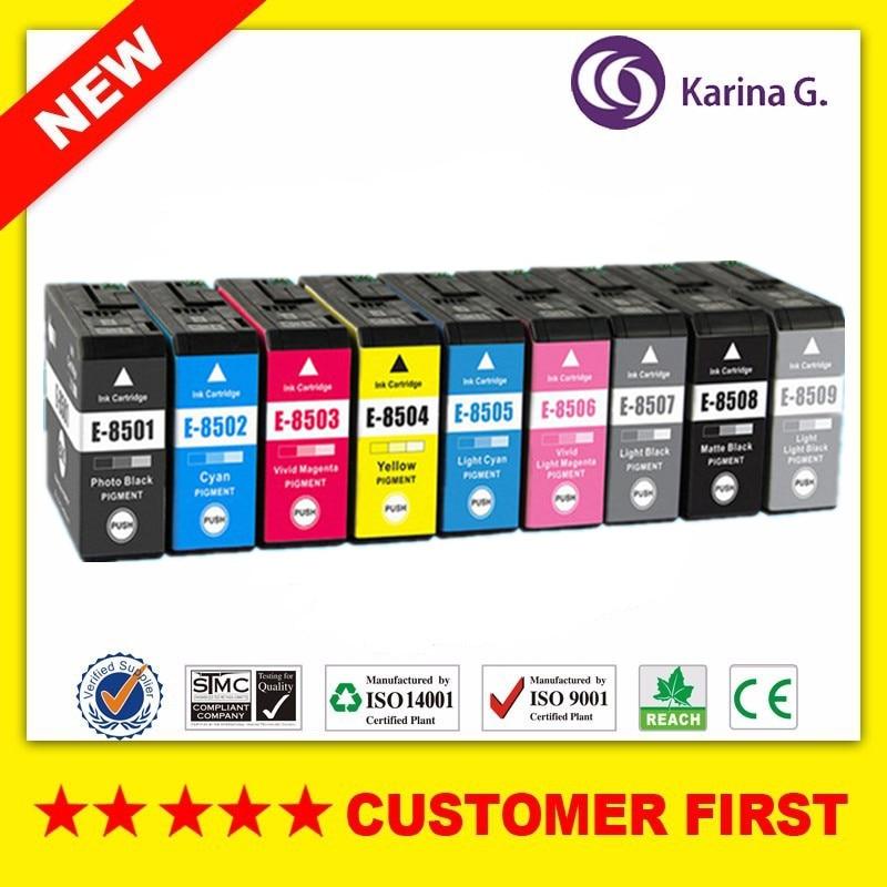 Compatible for Epson T8501 T8501- T8509 Ink Cartridges suit For SureColor P800 SC-P800 Printer