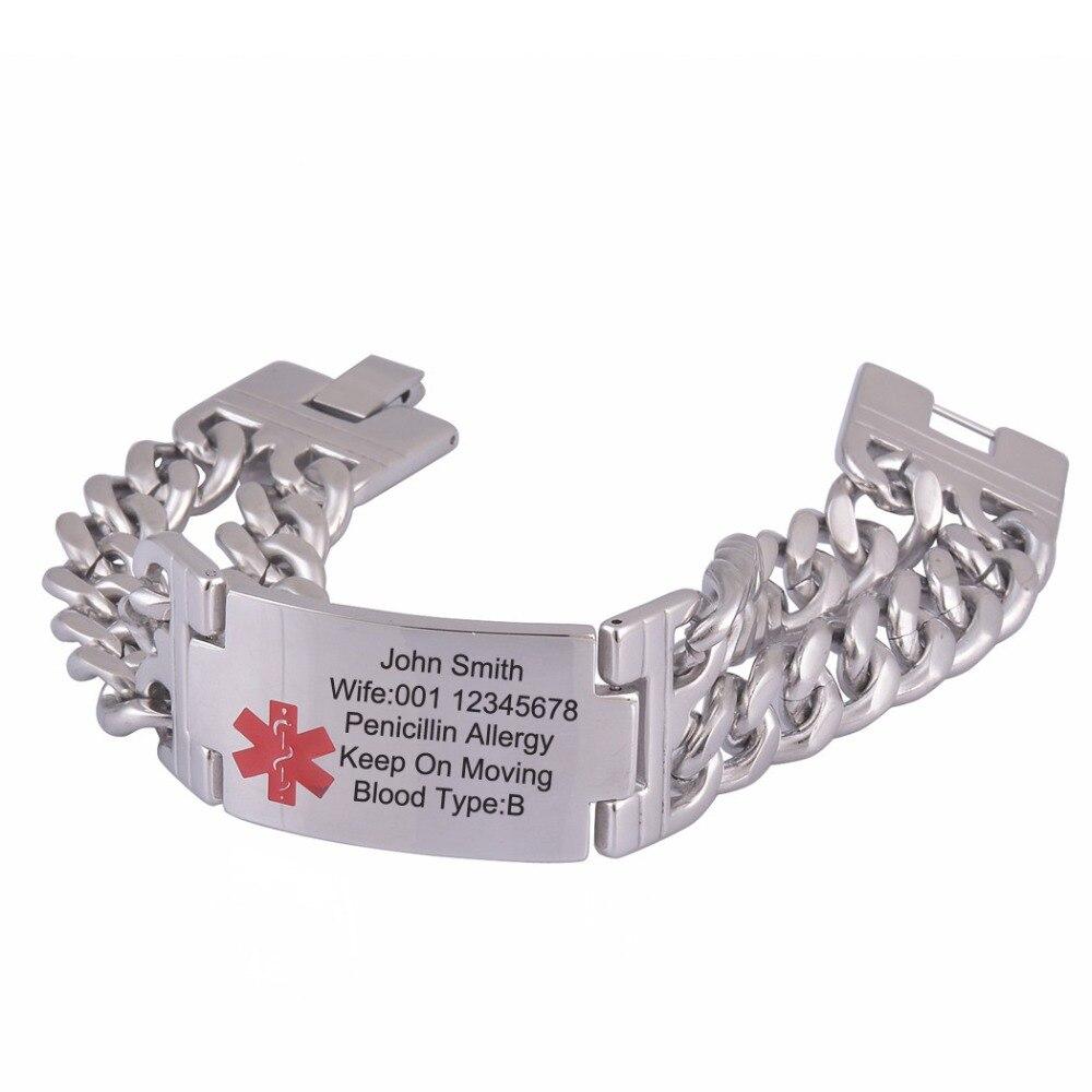 Engraved Medical Bracelet Bracelets Ideas