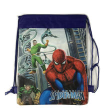 1pc Cartoon Drawstring kid bag for Boy Avengers, Spideman Backpack Kids Them Party Favors,Gifts