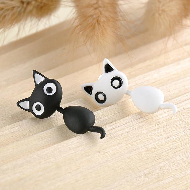 Ladies Cute Kitten Cat Earrings