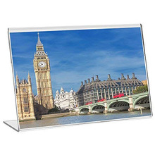 (10 units/pack) 150X100MM Acrylic Sign Display Holder Menu Holders Table Card Photo Frames Ad ADS019