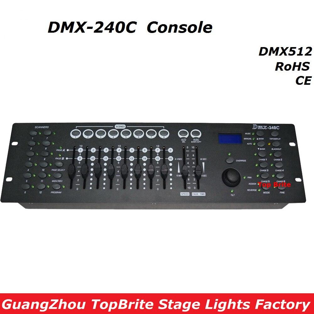 1e6300c7d 2017 Frete Grátis Alta Qualidade Controlador DMX240 Consola DMX 512 Dj  Discoteca Equipamentos Para Stage Party Iluminação de Eventos de Casamento