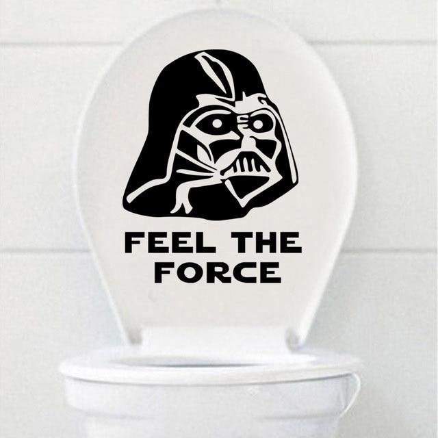 feel the force funny toilet wall sticker diy star wars bathroom stickers waterproof vinyl art poster - Star Wars Bathroom