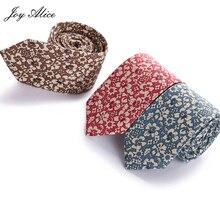 Men Business Ties For Wedding Fashion Cotton Floral Necktie Tie Printed Skinny Mens Slim 6cm Gravata Brand necktie