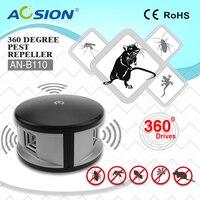 2 adet x Ev Aosion 360 derece ultrasonik Rats kemirgen fare fare kovucu ve elektronik haşere kovucu kapak 3000 sq ayaklar