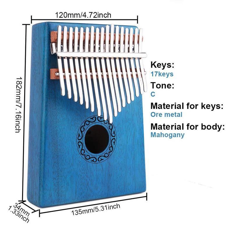 madeira 17 teclas dedo polegar bolso piano 04