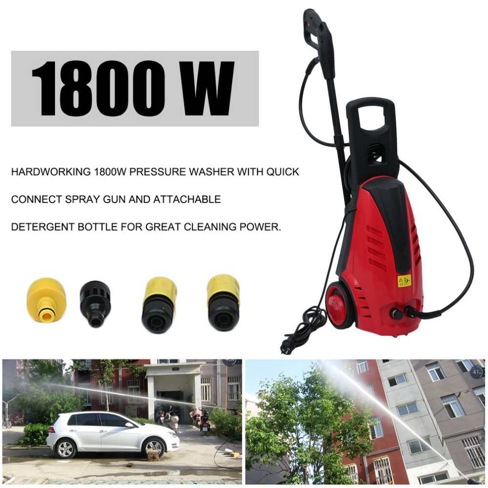 Newest Car Auto High Pressure Cleaner Spray Jet Gun Garden Cleaning Machine Vehicles Washing Clean Device 1800W EU Plug metal hose nozzle high pressure water spray gun sprayer garden auto car washing