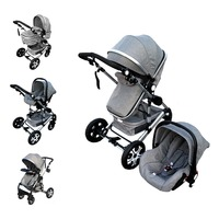 Baby Stroller 3 In 1 Kids Pram Car Seat Stroller