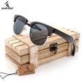 BOBO BIRD Vintage Club Semi-Sin Montura gafas de Madera Gafas de Sol Polarizadas Para Hombre Clásico gafas de Sol de Madera en Caja