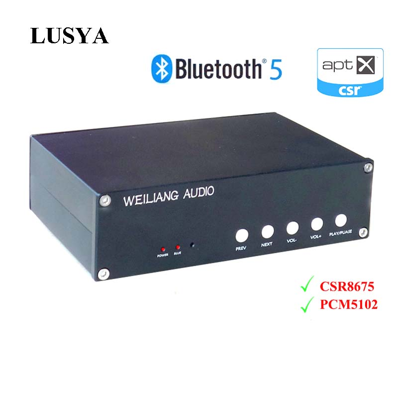 Lusya Csr8675 Bluetooth 5,0 Dekodierung Audio Empfänger Pcm5102a Aptx Hd Dac Decoder Mit Analog Eingang T0277 Moderater Preis Digital-analog-wandler