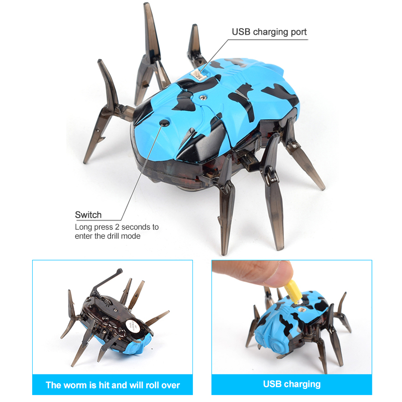 Infrared Sensor Tag Spider Toy Moving Robot Space Blaster Training Bot USB Charging Cable For Robot Bug