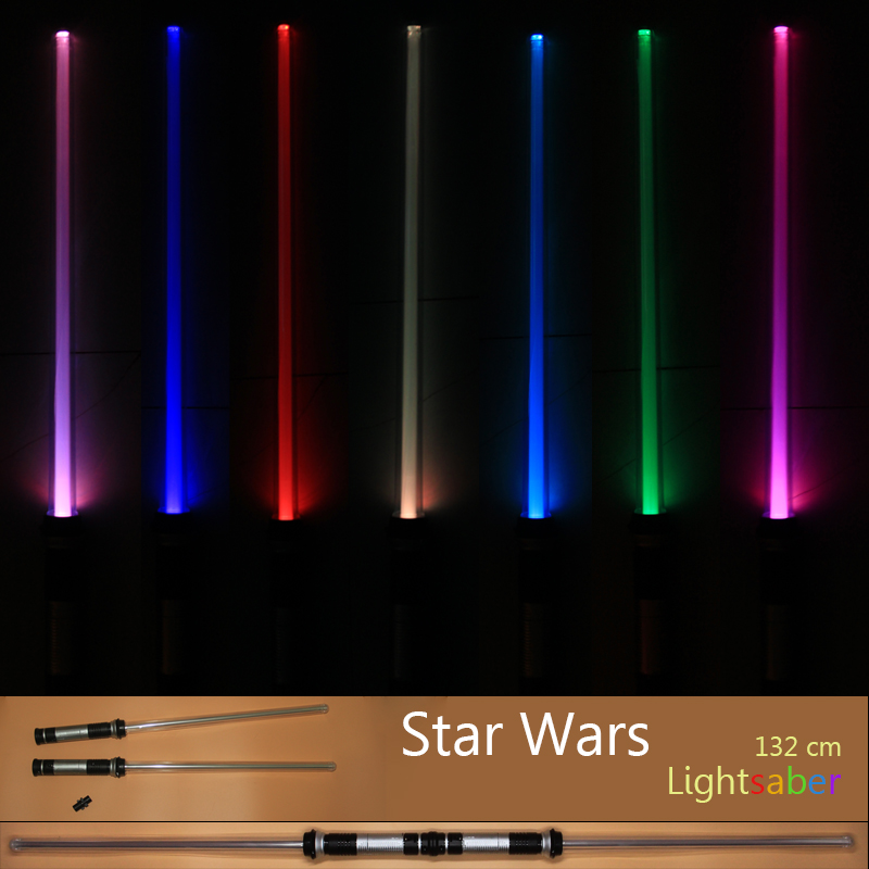 Drop Shipping 2 pcs/lot Star Wars Lightsaber Led Flashing Light Sword Toys Cosplay Weapons Sabers Gifts for boys