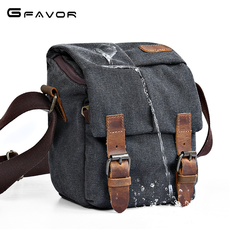 Vintage Canvas Camera Bag Men Handbag Multifunction Travel Bag SLR Camera Messenger Bags Male Waterproof Shoulder Crossbody Bags ...