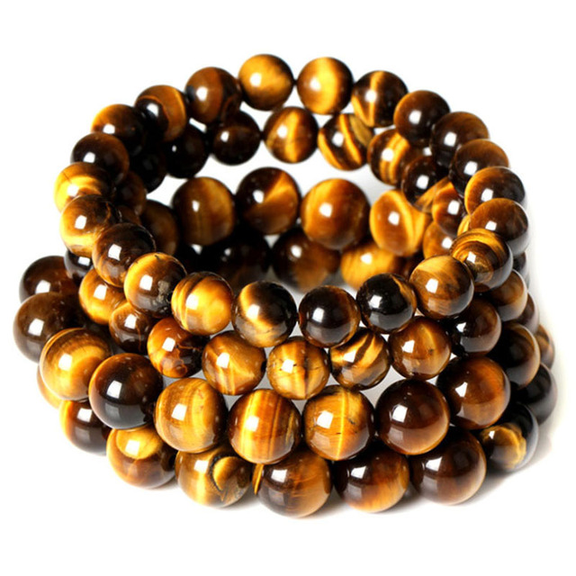 Tiger Eye Beads Buddha Bracelets Natural Stone Bracelet Elastic Rope DIY Natural Stone Friendship Bracelets Fashion Jewelry