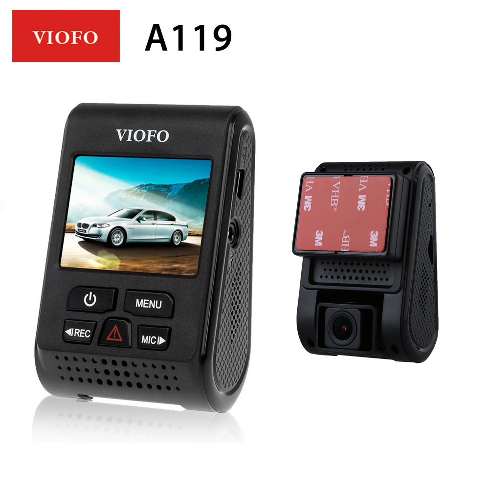 "Have An Inquiring Mind Viofo Upgrated A119 V2 Car Dvr 2.0"" Screen Capacitor Car Dash Camera 60fps Gps Logger Novatek 96660 Car Recorder Original"