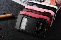 Luxury Fashion Double View Window Case Cover For Samsung galaxy S3 S4 S5 S6 S6Edge S7 S7Edge Note 2 3 4 5 Edge S3 Mini S4 Mini