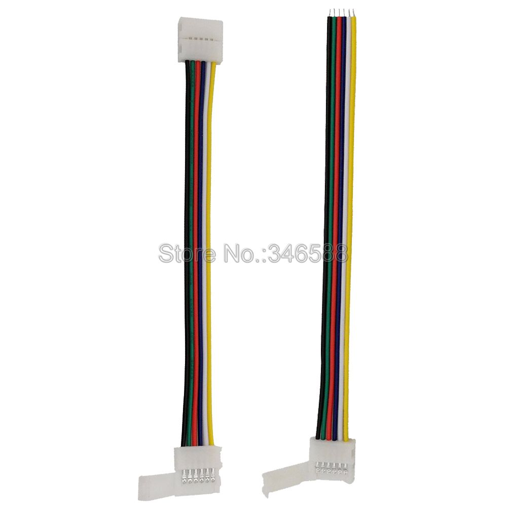 5pcs 6Pin 6-Pin RGB CCT LED Strip Connector 6 pin 12mm Width 1-Way or 2-Way Solderless Adapter for RGB+CCT LED Strip window valance