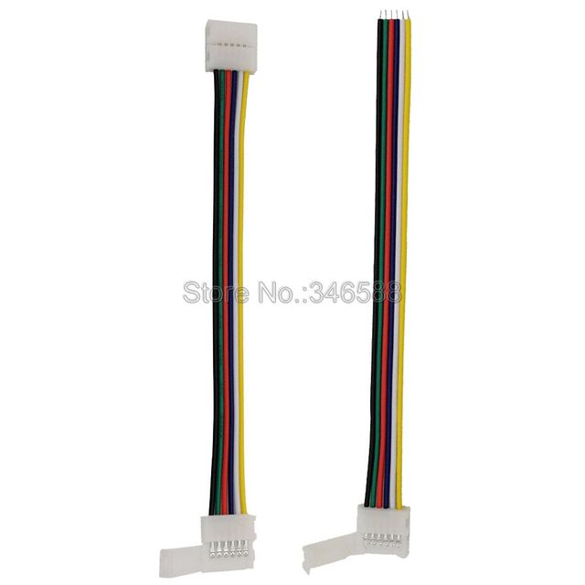 5pcs 6Pin 6-Pin RGB CCT LED Strip Connector 6 pin 12mm Width 1-Way or 2-Way Solderless Adapter for RGB+CCT LED Strip