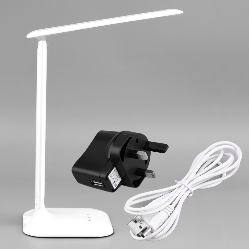LED Desk Lamp 5-Level Dimmer USB / Wall Charger Adjustable Dimmable Foldable Touch Control 4W Super Deal! Inventory Clearance inventory accounting