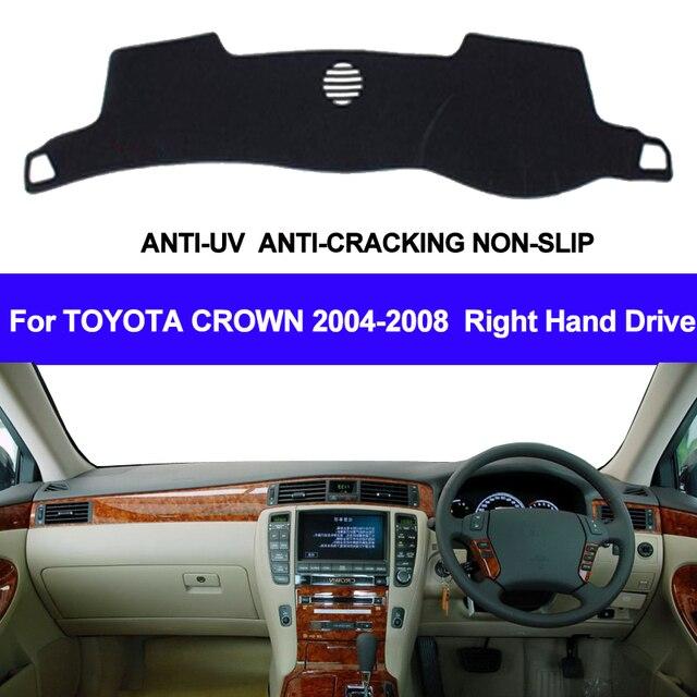 Car Dashboard Cover Dash Mat For Toyota Crown 2004 2005 2006 2007 2008 Auto Sun Shade Mat Pad Carpet DashBoard Car Styling