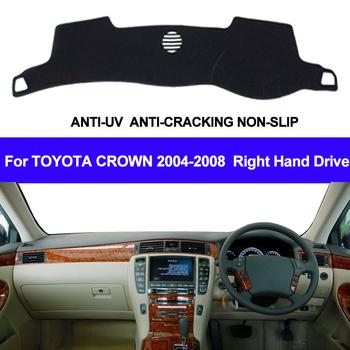 Samochód pokrywa deski rozdzielczej mata na deskę rozdzielczą dla Toyota Crown 2004 2005 2006 2007 2008 roleta przeciwsłoneczna do samochodu mata Pad dywanik deska rozdzielcza samochodu stylizacji tanie i dobre opinie TAIJS z włókien syntetycznych Right Hand Drive Model For Toyota Crown 2004 2005 2006 2007 2008