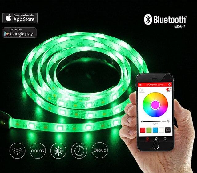 playbulb comet 2m 66ft rope flexible led light strip lamp kit rgb color changing christmas