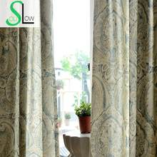 Slow Soul Totem Modern Minimalist Printing Jacquard Window Curtain Curtains Living Room Sale Chinese Vorhang Luxus Roman(China)
