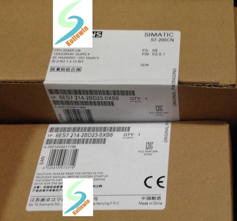 Original  SIMATIC S7-200CN CPU224XP 6ES7214-2BD23-0XB8 14DI 10 DO 2AI 1AO 6ES72142BD230XB8 6ES7 214-2BD23-0XB8 NEW in Box xp 2ad2pt bd input 2 temperature sensor ai 14 expansion bd for xp 18 xmp2 32