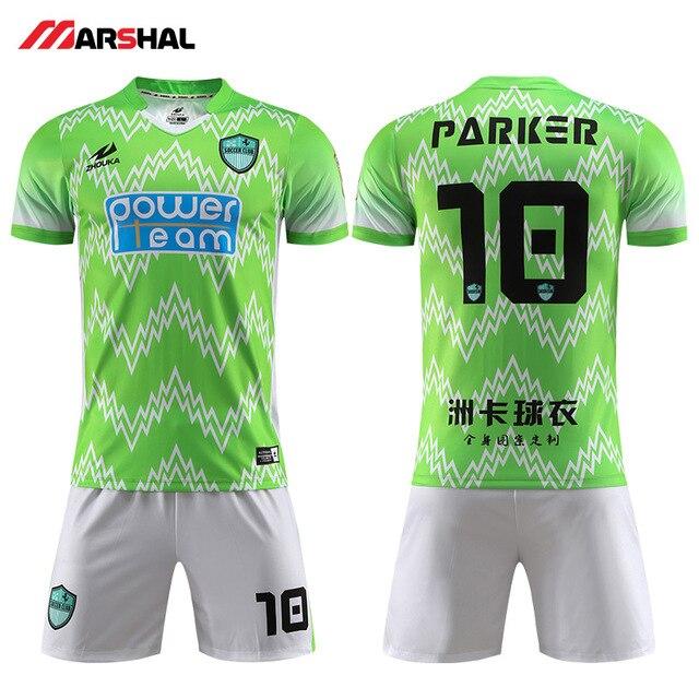 7ed3565643cb Make your own logo for football kits breathable quick dry team soccer uniform  maker on line