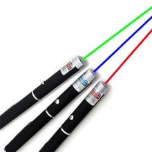 Pointeur Laser 5 mW haute puissance 650nm vert 532nm bleu violet 405nm pointeur Laser stylo Match de gravure réglable sans batterie