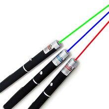 Wskaźnik laserowy 5mW High Power 650nm zielony 532nm niebiesko fioletowy wskaźnik laserowy 405nm regulowany mecz nagrywania bez baterii