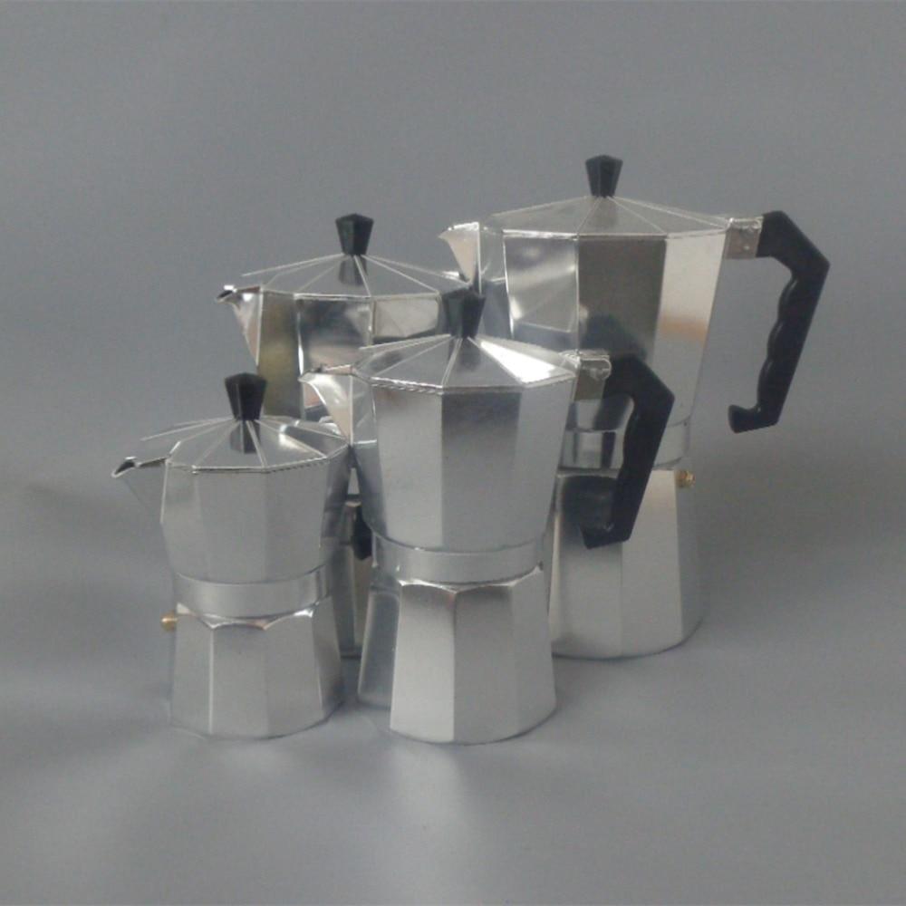 Aluminum Alloy Moka Espresso Latte Percolator Stove Top Coffee Maker Pot