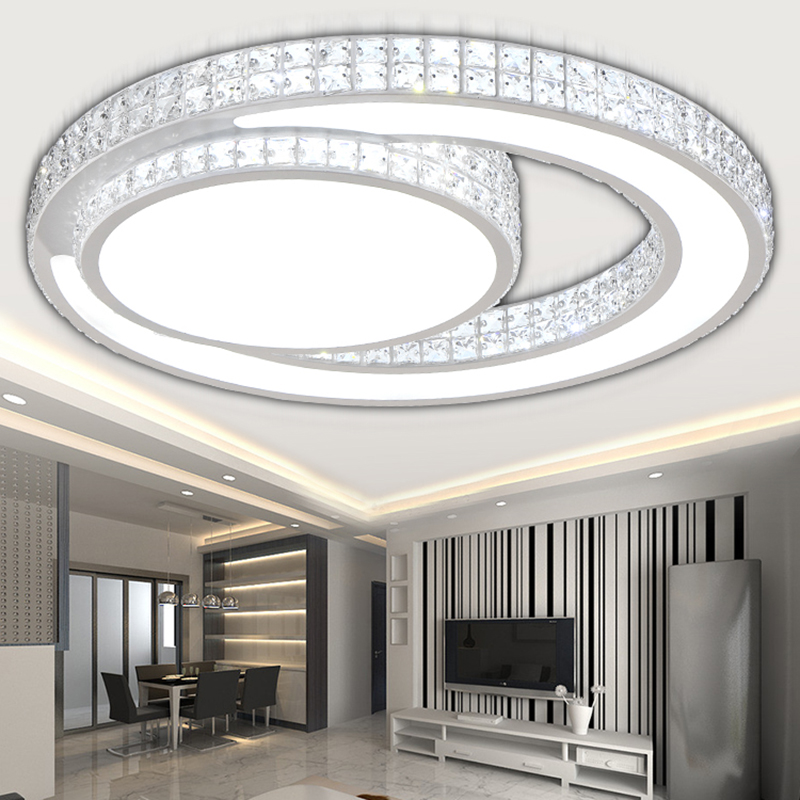 Modern led Crystal Ceiling Lights for Living Room bedroom foyer luminarias plafond verlichting lamp led Ceiling Fixture lighting цена