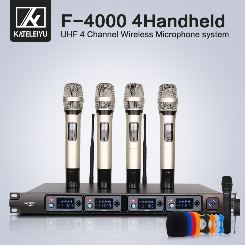 Professional Handheld Wireless Microphone UHF System Wireless Microphone Receiver Karaoke Session lapel microphone 4