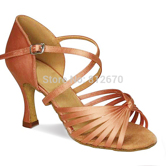 Custom Heels Adult Women Satin 8 Belts Classic Latin Shoes ISO International Square Ballroom Dance Shoes