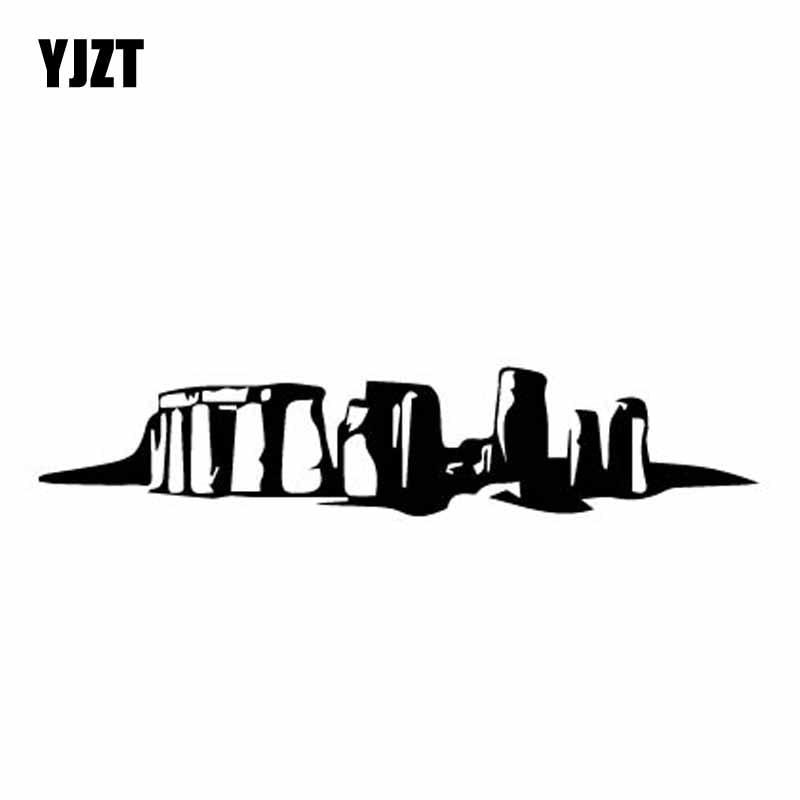 YJZT 15.3CM*3.2CM Stonehenge Dazzling Window Vinyl Decal Car Sticker Black/Silver C27-0080